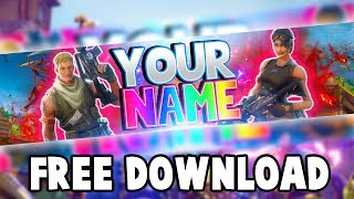 Free Fortnite Banner Template | Fortnite Battle Royale