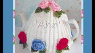 Ann Vintage Roses Style Tea Cosy Cozy DK Yarn Knitting Pattern!