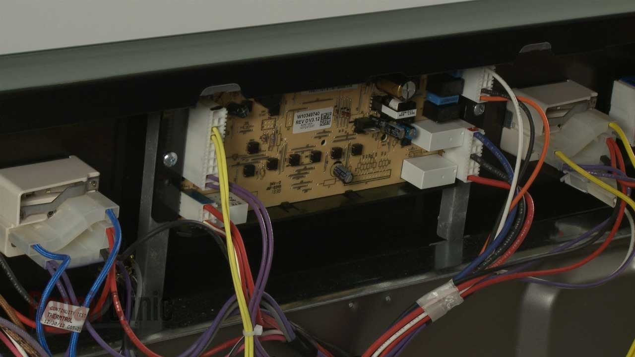 whirlpool oven not turning on replace control board w10349740 youtube whirlpool double oven wiring diagram [ 1280 x 720 Pixel ]