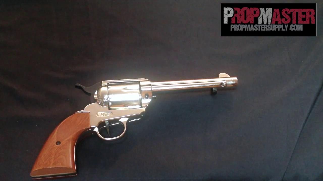 Runi ME Ranger Colt Peacemaker 9mm PAK Blank gun blank Firing movi prop gun  replica review