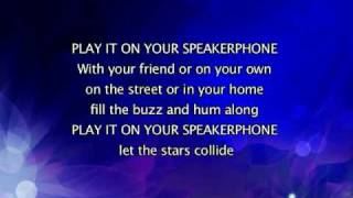 Kylie Minogue - Speakerphone, Lyrics In Video
