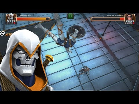 Taskmaster VS Realm of Legends Winter Soldier + Duel Gameplay - Marvel Contest Of Champions