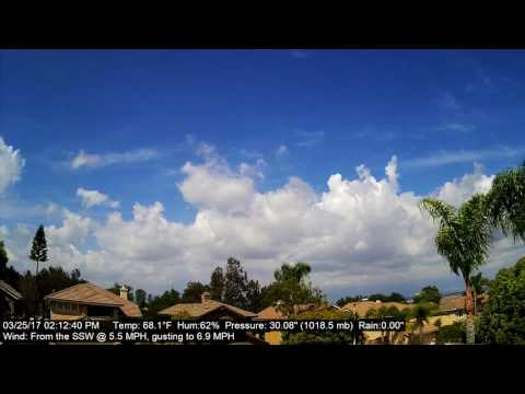 Chino Hills Time-Lapse 3/25/17
