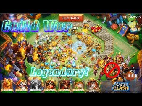 CRAZY PK! Guild War Mino Smashing Without Anubis & Ronin - Castle Clash