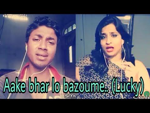 Aake bhar lo bazoun mai ( lucky ). My karaoke 139.