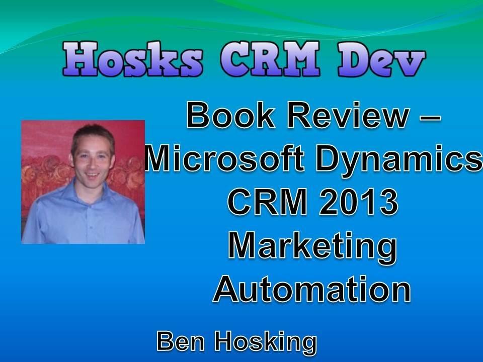 Microsoft Dynamics Crm 2013 Book