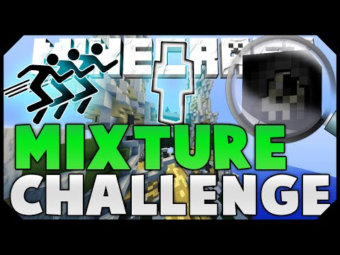 THE MIXTURE CHALLENGE + HILARIOUS FLYING HACKER! ( Hypixel Skywars )