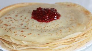 Заварные блины,блинчики на молоке (pancakes)