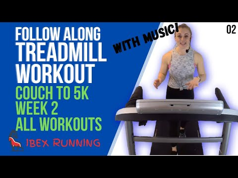 COUCH TO 5K WEEK 2 ALL WORKOUTS | Treadmill Follow Along! | Ibex Running