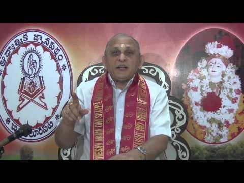 Mundakopanishad : Day 3 : 1st Mundakam - 1st Khandam - Mantram 1 2 : Sri Chalapathirao