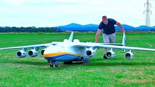 STUNNING !!! GIGANTIC !! 93KG XXXL RC ANTONOV AN-225 MRIJA SCALE MODEL AIRCRAFT FLIGHT DEMONSTRATION