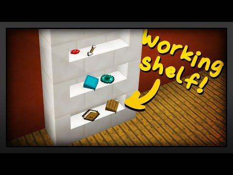 Minecraft - How To Make A Working Shelf
