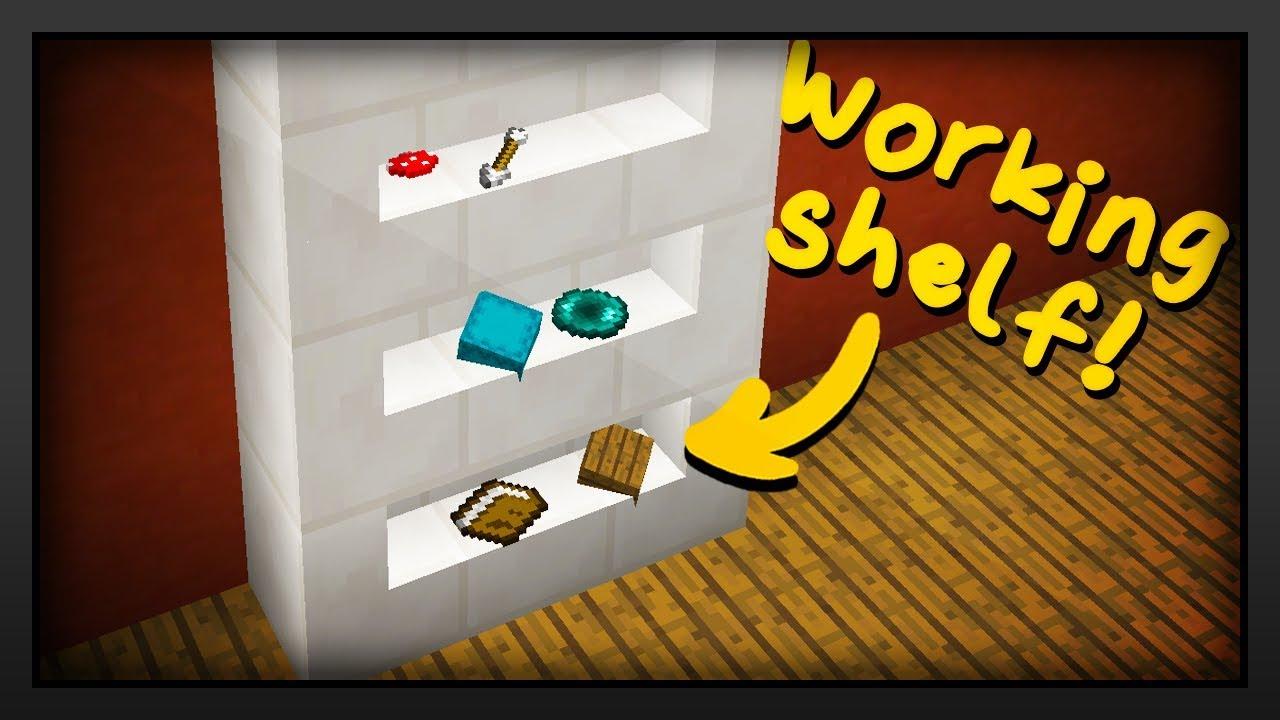 Minecraft How To Make A Working Shelf