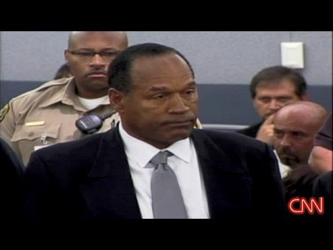 OJ Simpson : GUILTY !  - OJ Reacts As He Hears The Jury Verdict