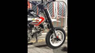 daytona 190 anima engine with imr pitbike full exhaust