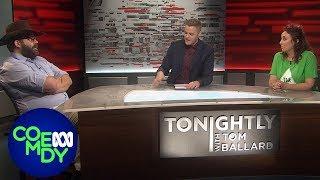 George Christensen vs Greenie Punks - Tonightly with Tom Ballard
