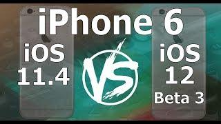 Speed Test : iPhone 6 - iOS 12 Beta 3 vs iOS 11.4 (iOS 12 Public Beta 2 Build 16A5318d)