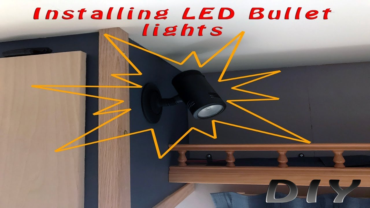 Wiring Led Bullet Lights Electrical Diagrams Diy Diagram Home Built Travel Trailer Part 77 Installing 120v