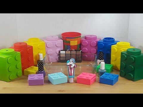LEGO Slime and MIXING Makeup, Random Things into Slime ASMR! Satisfying Slime Video #40