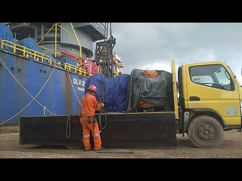Loading Supermax 12 Strand Synthetic Sling 120MM x 38 Mtr to McDermott Derrick Lay Vessel 2000