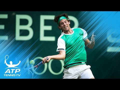 Dustin Brown dive; Thiem vs Marterer amazing rally | Gerry Weber Open Halle 2017 Highlights Day 1