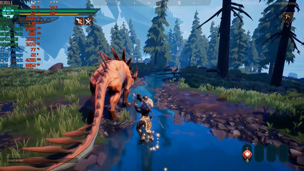 Dauntless hunt 1 with commentary on how to beat 1080p GTX 1080 SLI PC