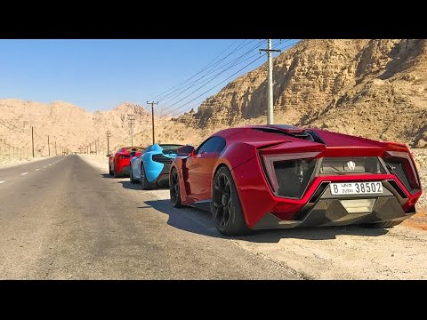 The Best Driving Road In The World? Lykan Hypersport, Ferrari 488 Spider, McLaren 650S