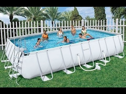 video montaggio piscina ultra frame rettangolare bestway