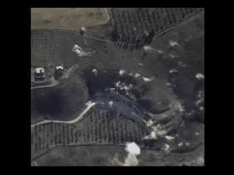 Точечные удары российских ВВС по позициям ИГИЛ.