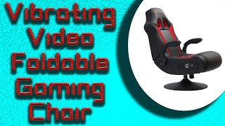 Vibrating Video Foldable Gaming Chair with Pedestal Base and High Tech Audio 2020