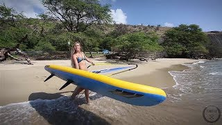 Windsurfing with Kevin Pritchard,  on the big waves in Hookipa, Maui