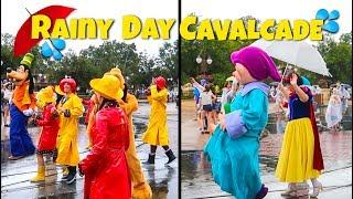 Rare Rainy Day Parade at Magic Kingdom | Disney World