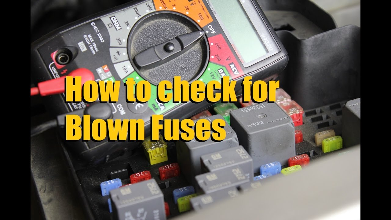 how to check for a blown car fuse multi meter and test light rh youtube com