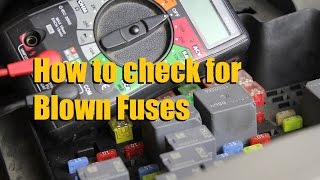 How to check for a blown car fuse (Multi-meter and Test Light)