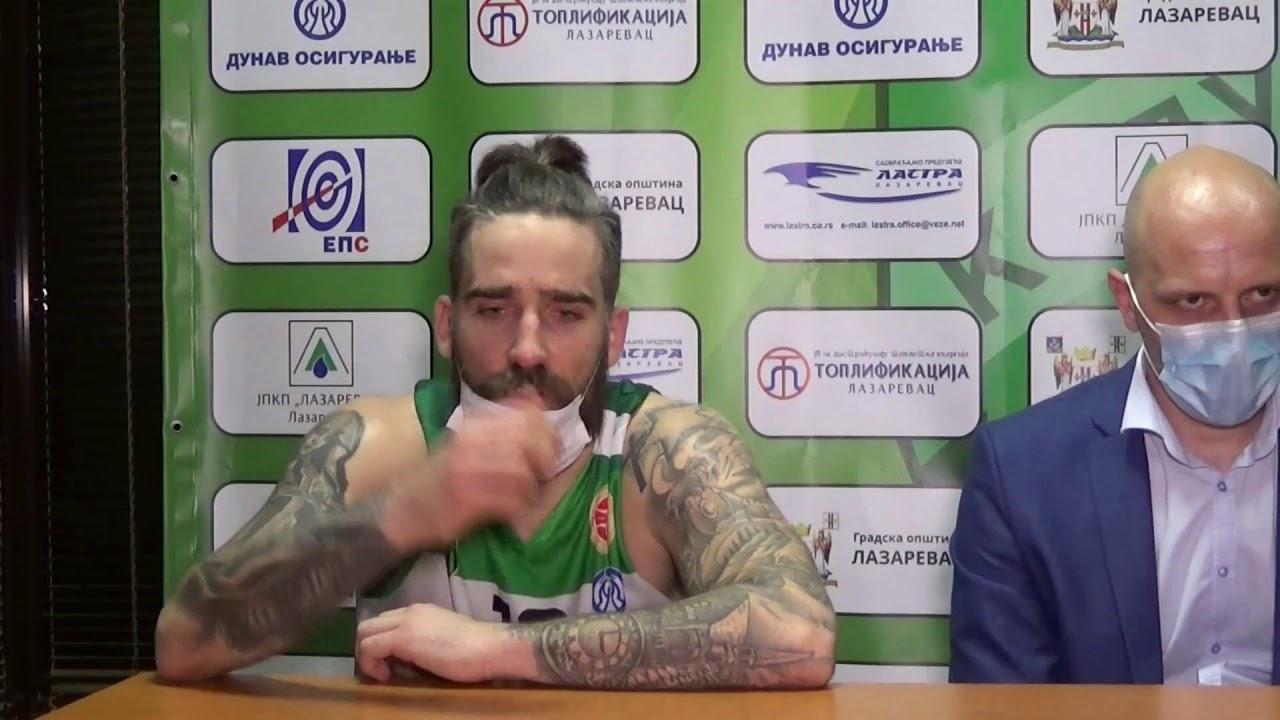 Press konferencija KK Kolubara LA2003  KK Dunav (77:59) 23.kolo KLS 2021