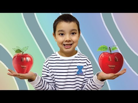 Make Apple from paper for kids!