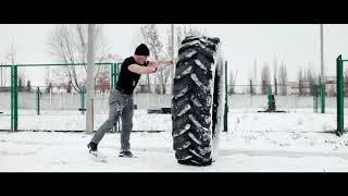 Спорт мотивация. Стронгмен. Тренировка на улице. Мотивация.