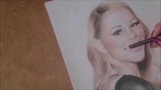Mariah Carey Time Lapse Drawing