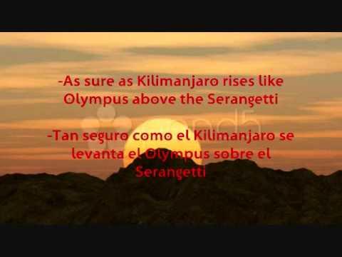 Africa-Toto (Letra & Traducción)