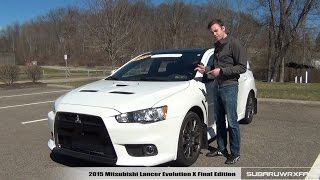 Review: 2015 Mitsubishi Lancer Evolution X Final Edition