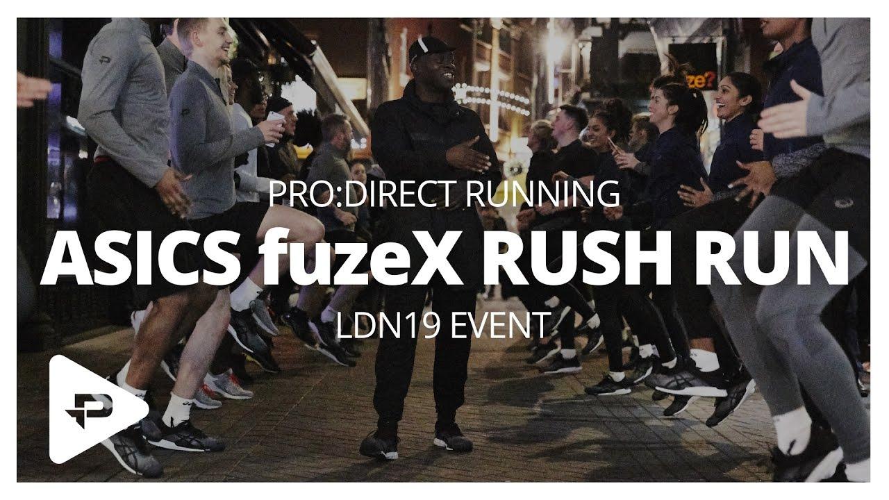 Asics fuzeX Rush Run London - YouTube