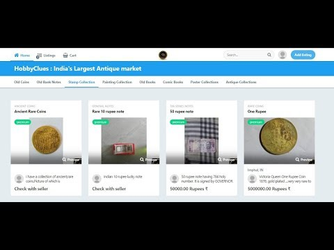 Hobby clues - How to sell your old coins , bank notes , paintings , stamps  etc