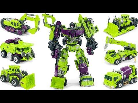 Transformers Jinbao KO Oversized Gravity Builder Devastator Combine Construction Toys