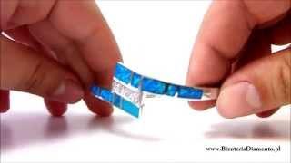 Srebrna bransoletka z niebieskim opalem - Biżuteria Diamento