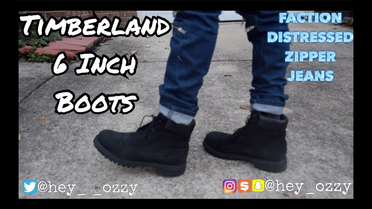 Timberland 6 Inch Premium Boots On Feet Review (Black)