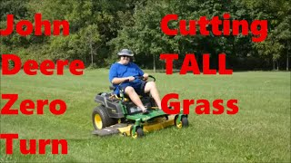John Deere 525 Zero Turn Mower Cutting Tall Grass