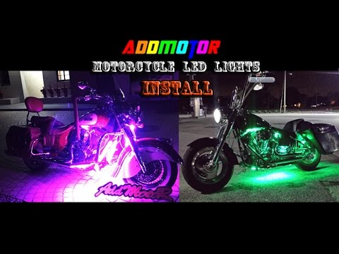 Simple Motorcycle Wiring Diagram 1999 Mustang Radio How To Install Led Light Addmotor Youtube