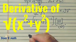 how to find the derivative using chain rule sqrt x 2 y 2