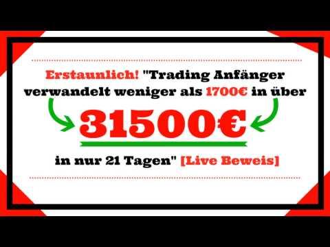 """Krass!""""Trading Anfänger verwandelt weniger als 1700€ in über 31500€💰in nur 21 Tagen""""[Live Beweis]"""
