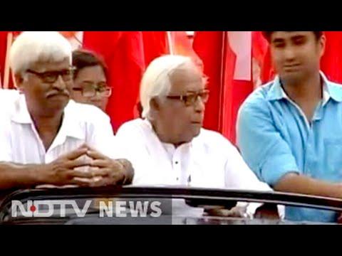 Big fight ahead, says Buddhadeb Bhattacharjee, on campaign trail
